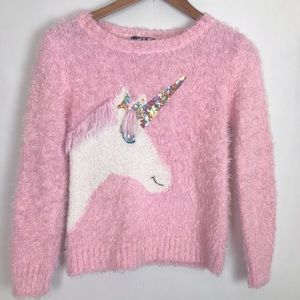 Unicorn It's Our Time Sweater Pink Fluffy Girls